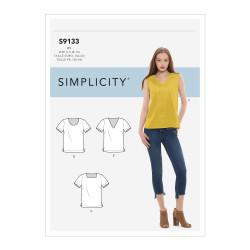 Bluse også plusmode snitmønster 9133 Simplicity