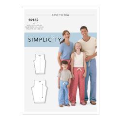Hyggebukser til familien snitmønster easy 9132 Simplicity
