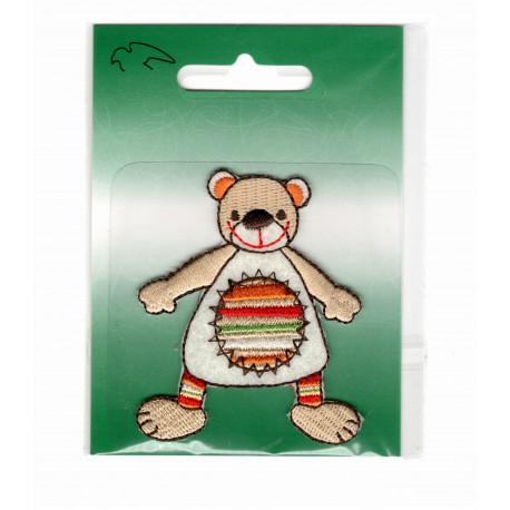 Lille Bjørn broderet strygemærke 6x5,5 cm