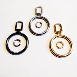 Ring lynlås vedhæng Ø 28 mm