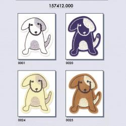 Hund strygemærke 5x4 cm