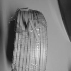 Næse bøjle til mundbind i metermål hvid 5 mm