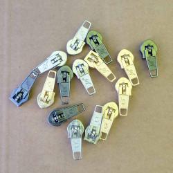 4mm glider i metal farver til 4mm spirallynlås i metermål