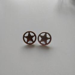 Metal knap m/øje stjerne 18 mm