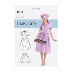 Bagerjomfru voksen kostume Simplicity snitmønster 9164