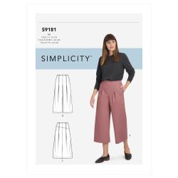 Bukser og nederdel også plusmode Simplicity snitmønster 9181
