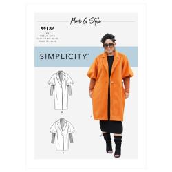 Jakke og frakke også plusmode Simplicity snitmønster 9186