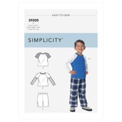 Hjemmesæt drenge Simplicity snitmønster 9205 A