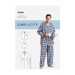 Pyjamas og badekåbe til mænd snitmønster