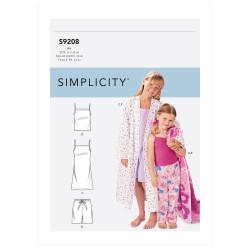 Pyjamas og badekåbe til piger snitmønster