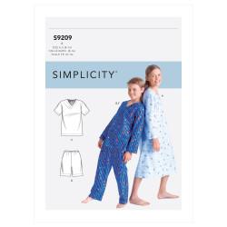 Pyjamas og natkjole til børn snitmønster