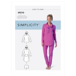 Hjemmesæt til kvinder Simplicity snitmønster easy 9210 A