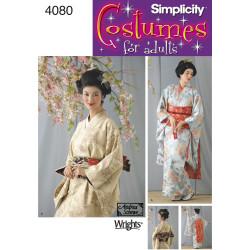 Gisha voksen kostume snitmønster