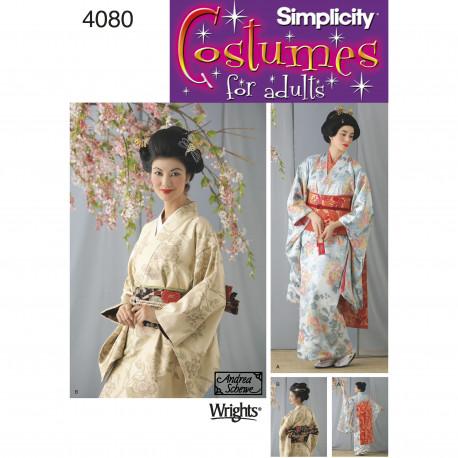 Gisha voksen kostume Simplicity snitmønster 4080