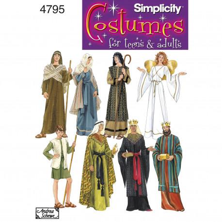 Engel, hyrde kostume voksen simplicity snitmøster 4795