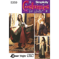Haremspige voksen kostume simplicity snitmønster 5359