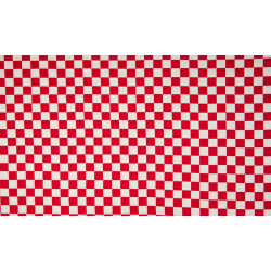 Jersey med tern rød/hvid 1x1 cm