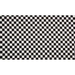 Jersey med tern sort/hvid 1x1 cm