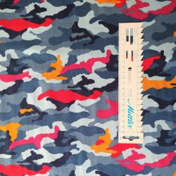 Camouflage Blande farver jersey metervare