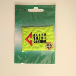Alter Think neon grøn strygemærke 5,5x7 cm