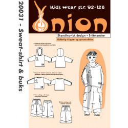 Sweat-shirt og bukser Onion snitmønster