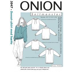Sweat-shirt m/hætte onion snitmønster