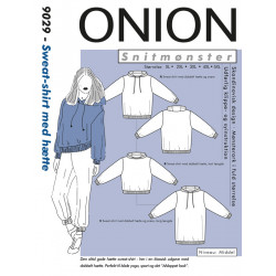 Sweat-shirt m/hætte Onion plusmode snitmønster