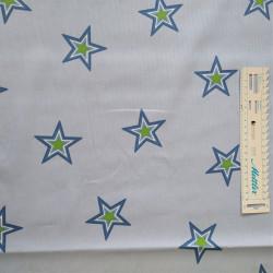 Blå/Mørk blå m/stjerner100% Bomuld 160 cm bred
