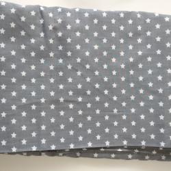 Lysgrå m/stjerne bomuld