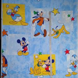 Disney Figurer på Lysblå bund Bomuld