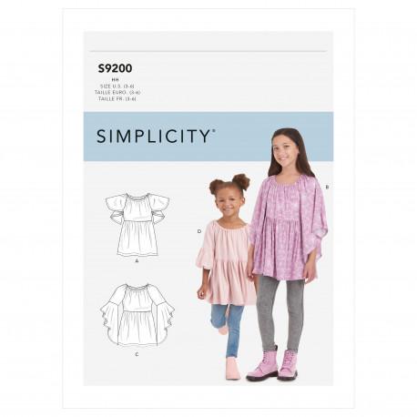 Tunika pigetøj Simplicity snitmønster 9200