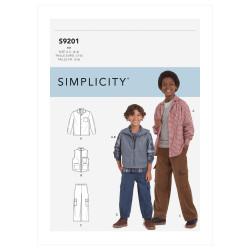 Skjorte vest og bukser Simplicity snitmønster 9201