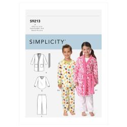 Hyggetøj og badekåbe børnetøj Simplicity snitmønster 9213