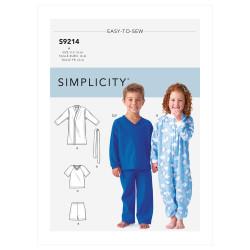Heldragt og badekåbe børnetøj Simplicity snitmønster 9214