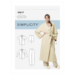 Badekåbe og pyjamas Simplicity snitmønster 9217