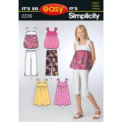 Piratbuks ,top og kjole pige tøj snitmønster