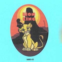 løvernes konge Simba printet oval strygemærke 11x8 cm 6880-05