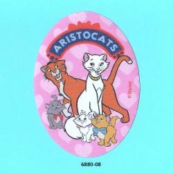 Aristocats printet oval strygemærke 11x8 cm