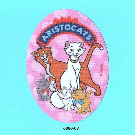Aristocats printet oval strygemærke 11x8 cm 6880-08