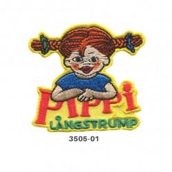 Pippi Langstrømpe broderet strygemærke 6x5,5 cm 3505-01