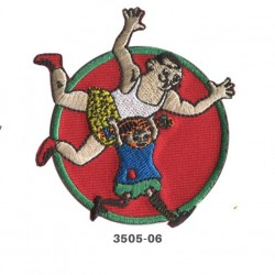 Pippi Langstrømpe broderet strygemærke Ø 7cm 3505-06