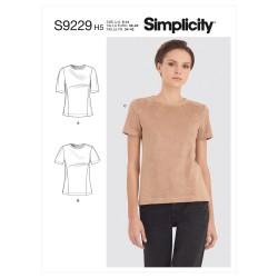 Bluse også plusmode Simplicity snitmønster 9229