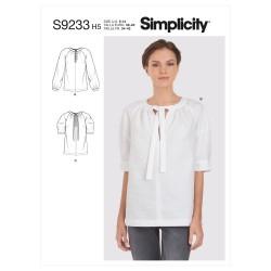 Bluse også plusmode Simplicity snitmønster 9233