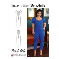 Jumpsuit også plusmode Simplicity snitmønster 9234