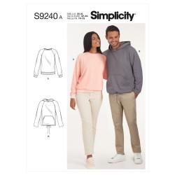 Raglan pullover shirts Simplicity snitmønster 9240