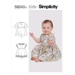 Babykjole Simplicity snitmønster 9243