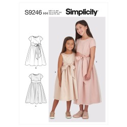 Pige kjole Simplicity snitmønster 9246