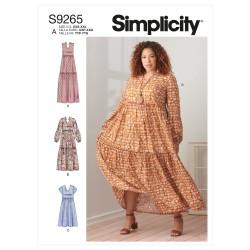 Flæsekjole Simplicity snitmønster 9265 A