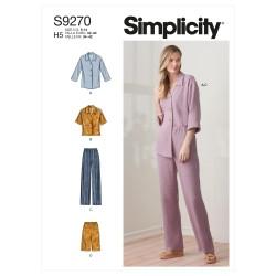 Jakke bluse og bukser Simplicity snitmønster 9270