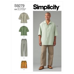 Herreskjorte og bukser Simplicity snitmønster 9279